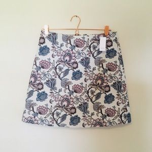 Loft floral embroidered skirt